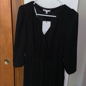 Black pleated dress NWT
